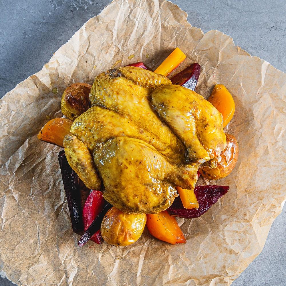 PKO Jamaikietišku stiliumi paruoštas kukurūzinis viščiukas