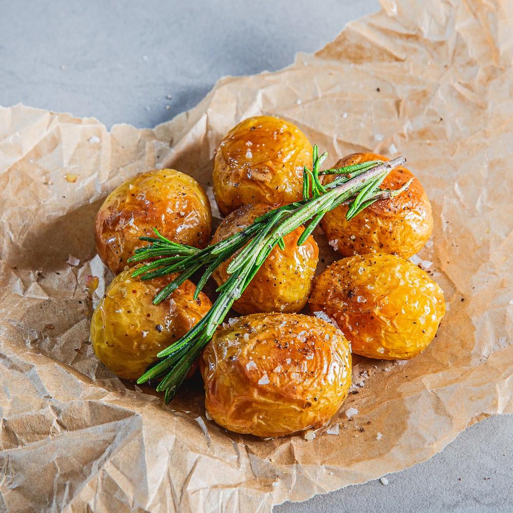 PKO Traiškytos mažos bulvytės su alyvuogių aliejumi ir rozmarinais