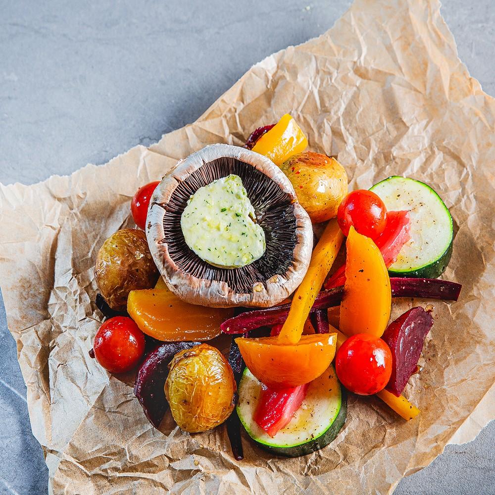 PKO Vegetariškas keptų daržovių rinkinys